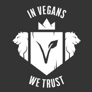 In Vegans We Trust Logo
